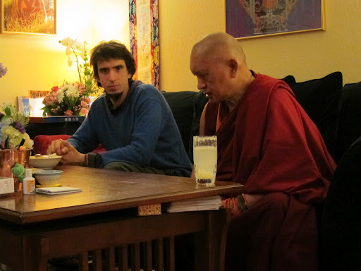 Osel with Lama Zopa Rinpoche at Kachoe Dechen Ling, USA, February 2011