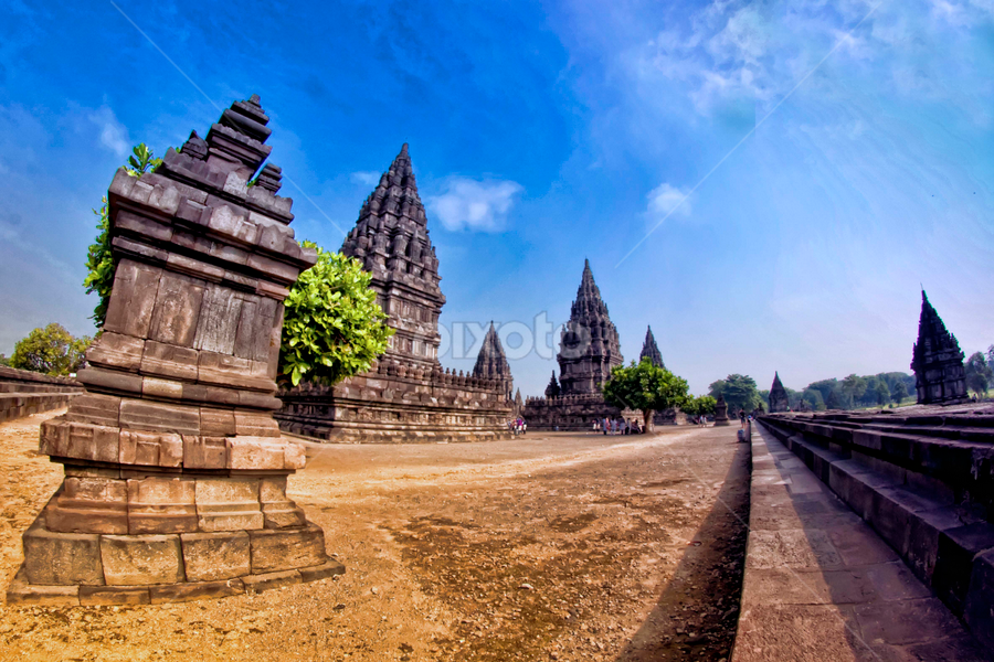 blue sky in prambanan by Andreas Prasetya - Buildings & Architecture Public & Historical ( building, achitectur, historical )