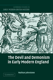 Cover of Nathan Johnston's Book The Devil and Demonism in Early Modern England
