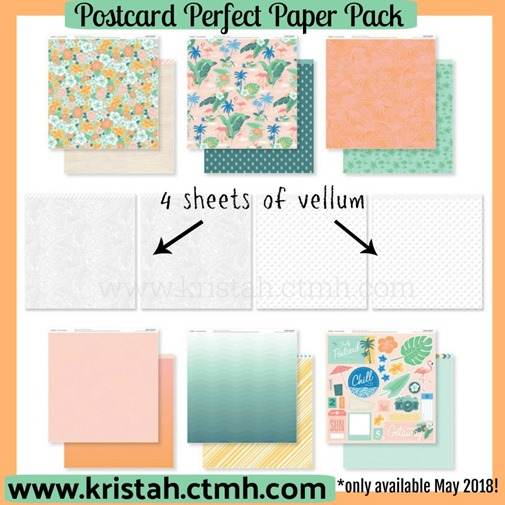 2018-5 Postcard Perfect paper pack - collection