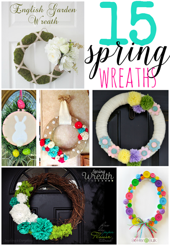 15 Spring Wreaths at GingerSnapCrafts.com #linkparty #features #wreaths_thumb[2]
