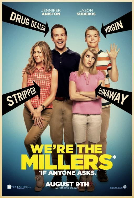 Poster Of We're the Millers (2013) Full Movie Hindi Dubbed Free Download Watch Online At Alldownloads4u.Com