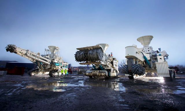 Machines intended for use in deep sea mining off the Papua New Guinea coast. Photo: Nautilus minerals