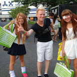meeting some gyaru's outside of Love Sunshine in Shibuya in Shibuya, Tokyo, Japan