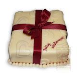 26. kép: Ünnepi torták - Szülinapi torta piros masnival