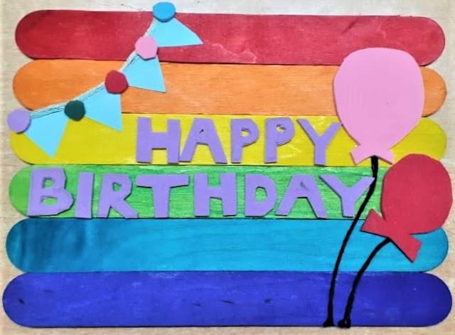 Ice Cream stick birthday card ideas