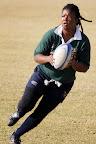 Foto Marius NortjeDie kaptein van die vroue Springbokspan Mandisa Williams in aksie tydens hulle laaste week se oefensessies by Konka Kampe