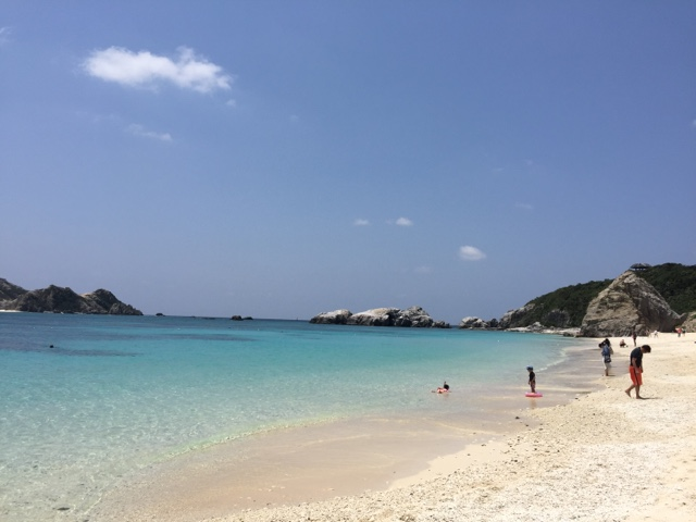 Aharen Beach on Tokashiki Island is great for snorkelling or just relaxing by the crystal waters