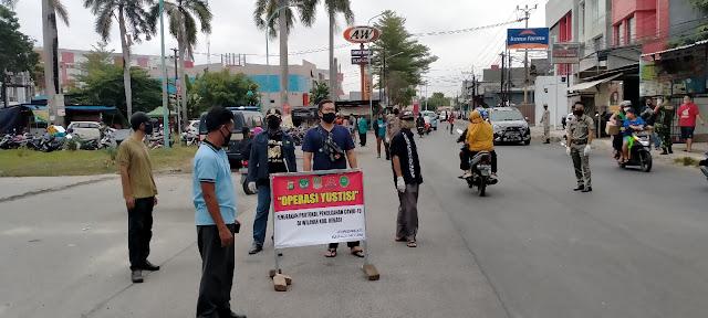 Cegah Pandemi Pemdes Karang Satria dan Muspika Operasi Yustisi di wilayah Tambun Utara