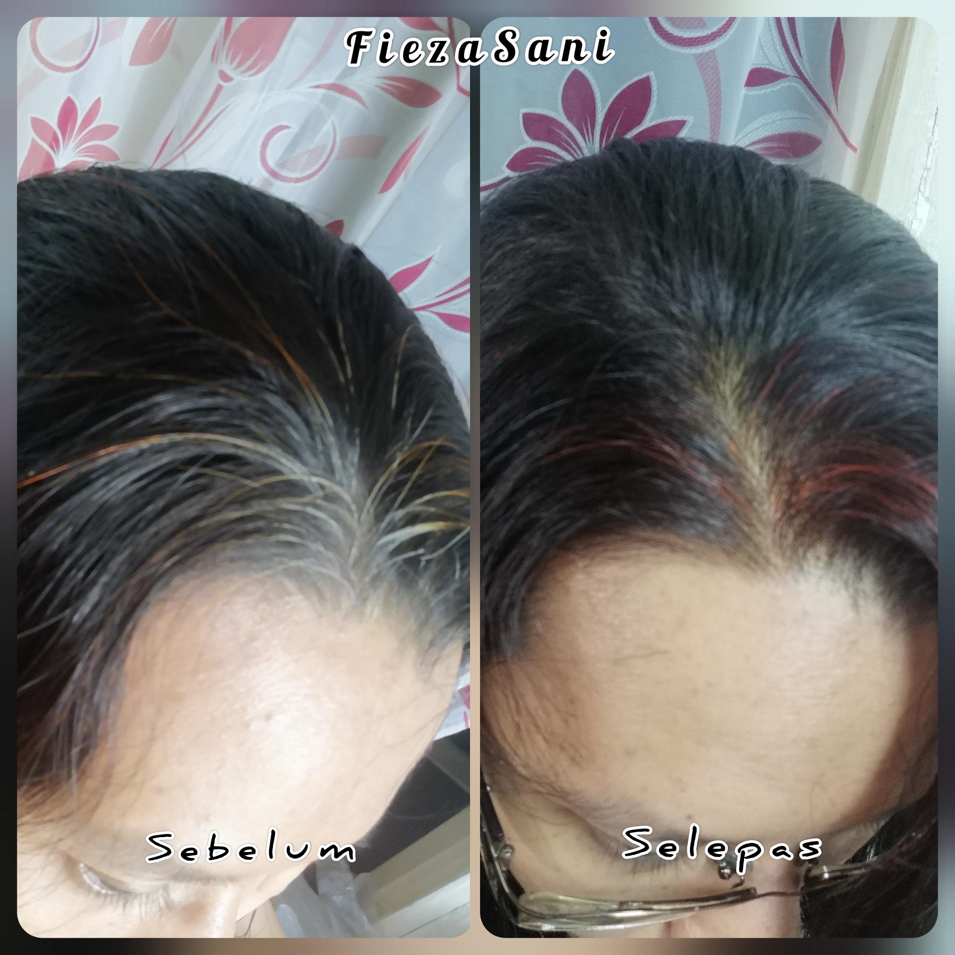 rambut uban, cara menutup uban rambut, inai rambut, inai ready made