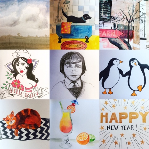 The Prompts For First Nine Days Were Happy New Year Cocktail Sleep Penguin Fringe Sailor Building Bath And Cloud Im Hoping You Can Work Out