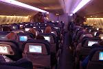 Night-time on the plane