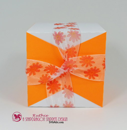 Ribbon wrap box - SnapoDragon Snippets - Ruthie Lopez - My Hobby My Art 5