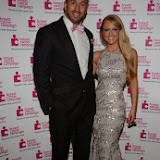 WWW.ENTSIMAGES.COM -  Chris Robshaw and Camilla Kerslake     at    Breast Cancer Campaign's Pink Ribbon Ball at The Dorchester, 55 Park Lane, London October 12th 2013                                                    Photo Mobis Photos/OIC 0203 174 1069