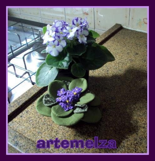 artemelza - vasinho com violetas