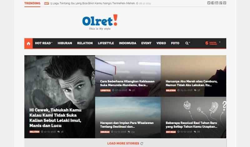 OLRET.com Situs Media Online Anak Muda dan Remaja Kreatif  Indonesia