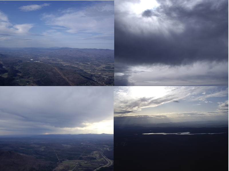 Variety of sky conditions in one day at Rutland