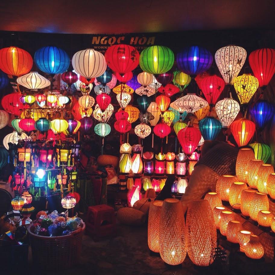 Lampionnekes in Hoi An