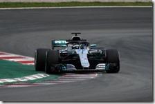 Valtteri Bottas nei test di Barcellona 2018