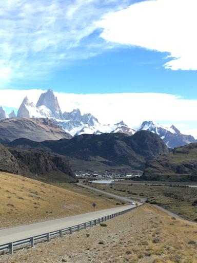 the road into El Chalten, Patagonia, Argentina