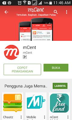 Buka Aplikasi Mcent