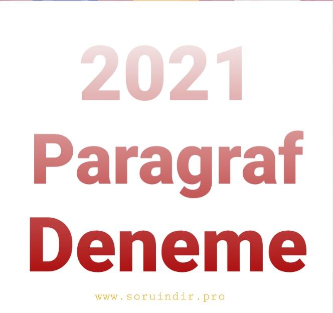 2021 Paragraf deneme pdf indir