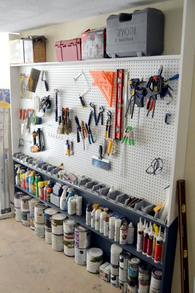 Garage pegboard wall the ugly duckling house for Best home office tools