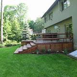 Ipe deck with wide steps