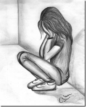 dibujos lapiz llorar y tristeza  (16)