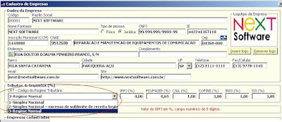 NeXT ERP NFe 2.0 segunda geração CRT