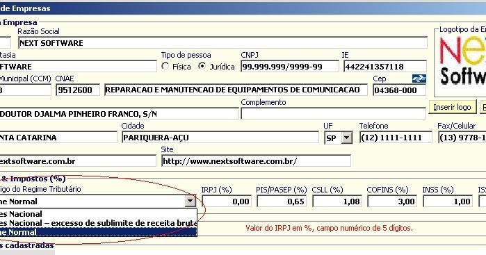 NeXT Software - Sistemas ERP e Nota Fiscal Eletrônica (NF