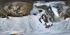 重連の滝氷爆@千年の森自然学校