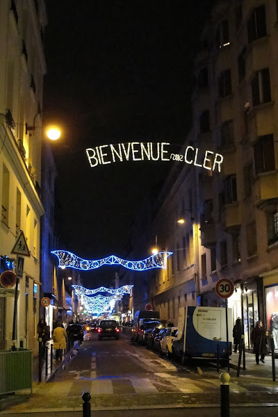 Photo: Christmas decorations on rue Cler, near the hotel, Paris