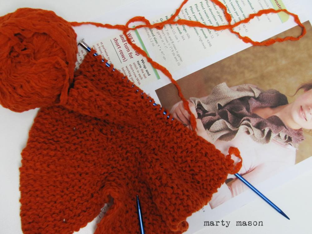 Martys Fiber Musings A Helix Knit Scarf