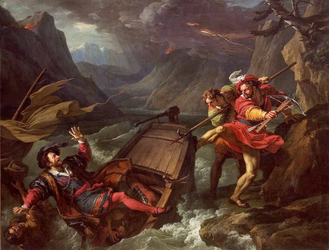 François-André Vincent - William Tell flipping the boat on which the Governor Gessler crossed Lake Lucerne