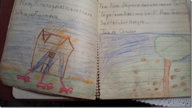 moms grade school notebook