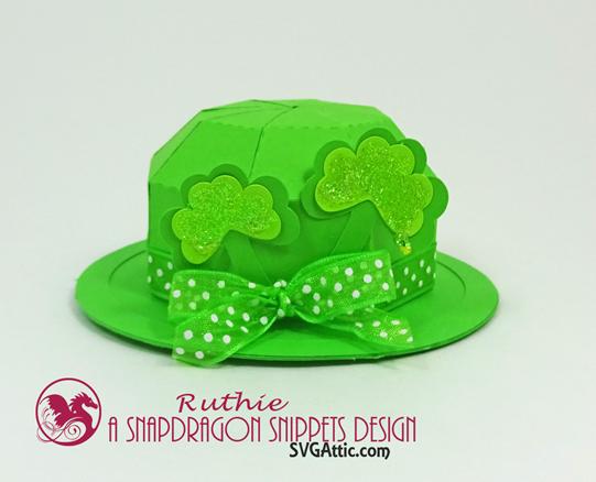 Leprechaun mini bowler hat box, SnapDragon Snippets, Ruthie Lopez