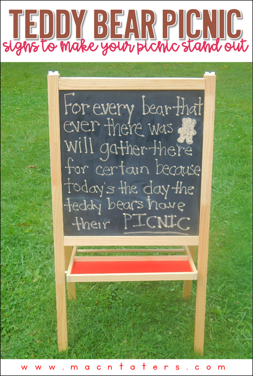 Teddy Bear Picnic signs to make your day pop. Perfect for National Teddy Bear Day and National Teddy Bear Picnic Day