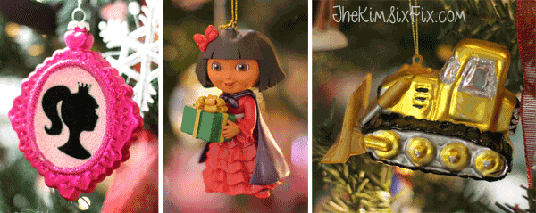 Character ornaments for kids