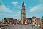 Groningen. Met links Amsterdam - Rotterdam Bank  en de middelste gebouw rechts Nationale Levensverzekering bank.  Gelopen gestempeld in 1974.