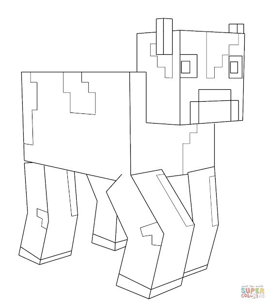 Click The Minecraft Cow Coloring Pages To View Printable Version Or Color  It Online Patible With Ipad And Android Tablets