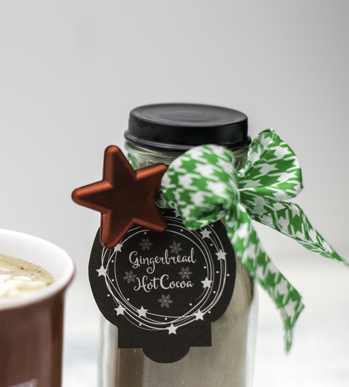 Gingerbread hot cocoa printable tags