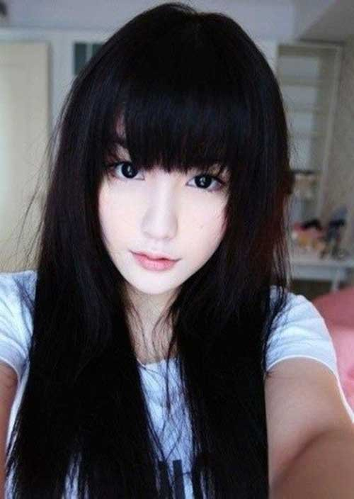 Korean Asian Long Hairstyle