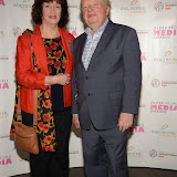WWW.ENTSIMAGES.COM -     Karen Henshaw   and John Sergeant  at     Older People in the Media Awards at The British Library London November 13th 2014Annual awards organised by charity Independent Age, in celebration of coverage which has positively portrayed older people or sensitively highlighted the issues they face. Hosted by Independent Age and sponsored by Barchester Healthcare.                                                 Photo Mobis Photos/OIC 0203 174 1069
