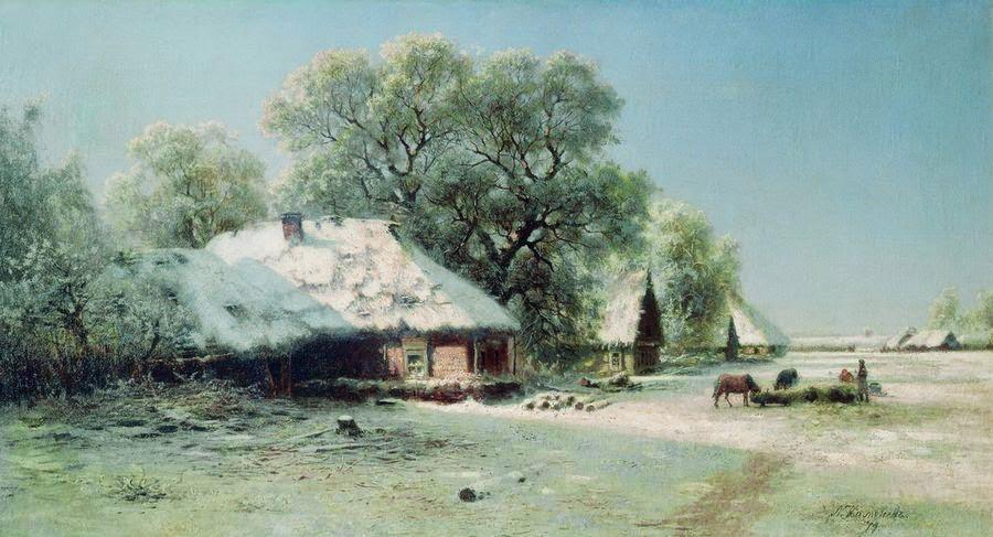 Lev Kamenev - Winter Landscape. 1871