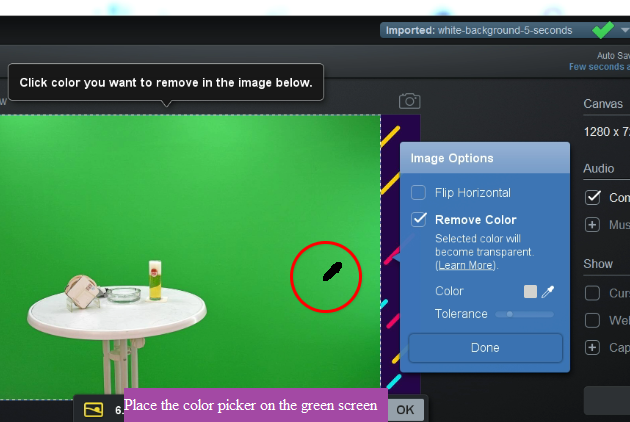 place-color-picker-on-the-green-screen-screencastomatic