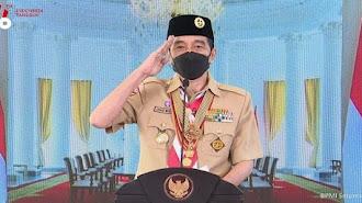 Hari Pramuka ke-60, Jokowi: Harus Bisa Jadi Pelopor Disiplin Protokol Kesehatan
