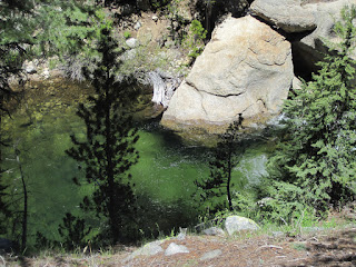 Deep green pool. We saw fish, but nothing too big ©http://ba​ckpackthes​ierra.com