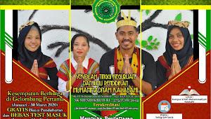 Dengan gratis Biaya Pendaftaran STKIP Muhammadiyah Kalabahi Buka pendaftaran Mahasiswa Baru