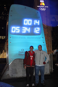 Ian and I at the Olympic countdown clock